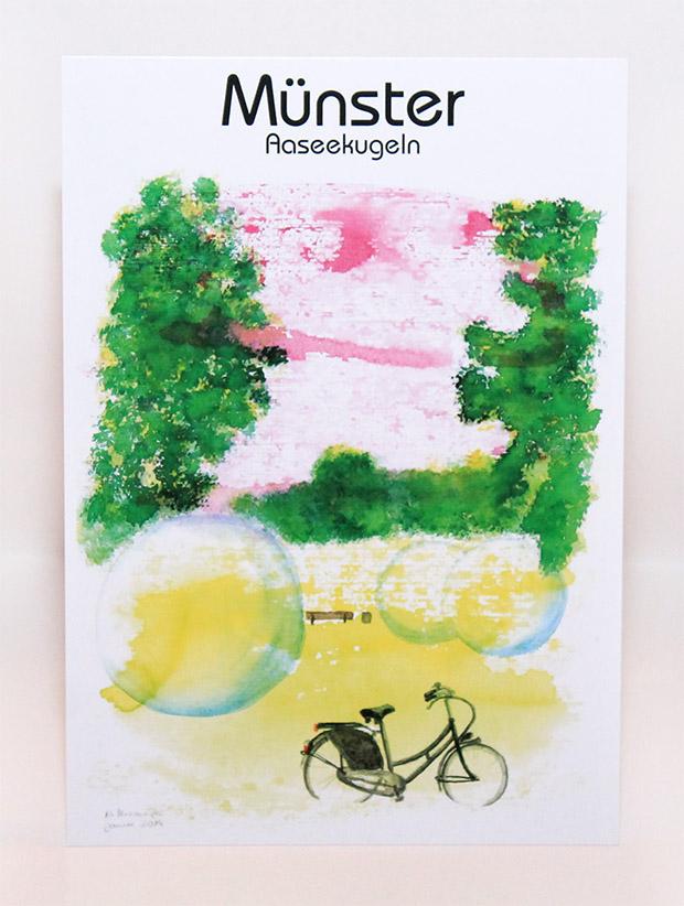 Münster Postkarte Aaseekugeln