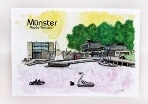 Münster-Postkarte-Aaseeterrassen