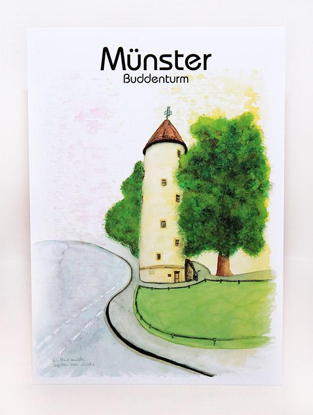 Münster-Postkarte-Buddenturm