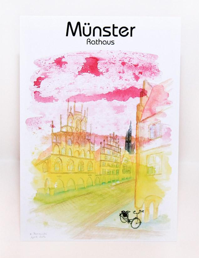 Münster-Postkarte-Rathaus