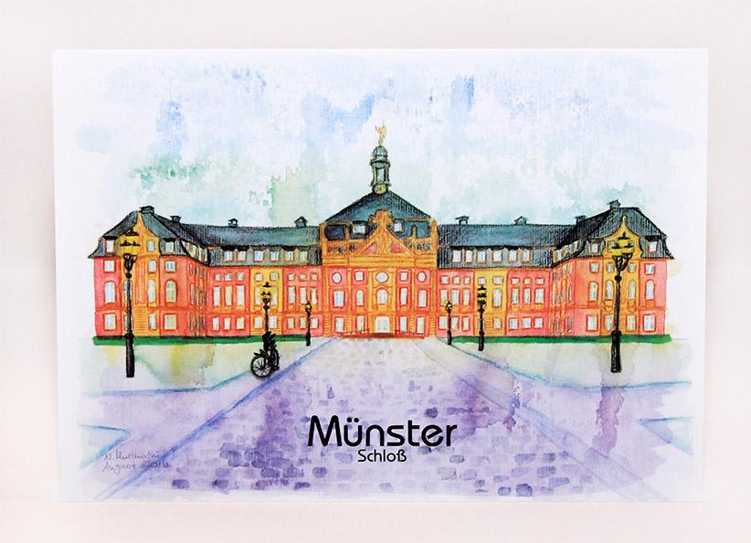 Münster-Postkarte-Schloss