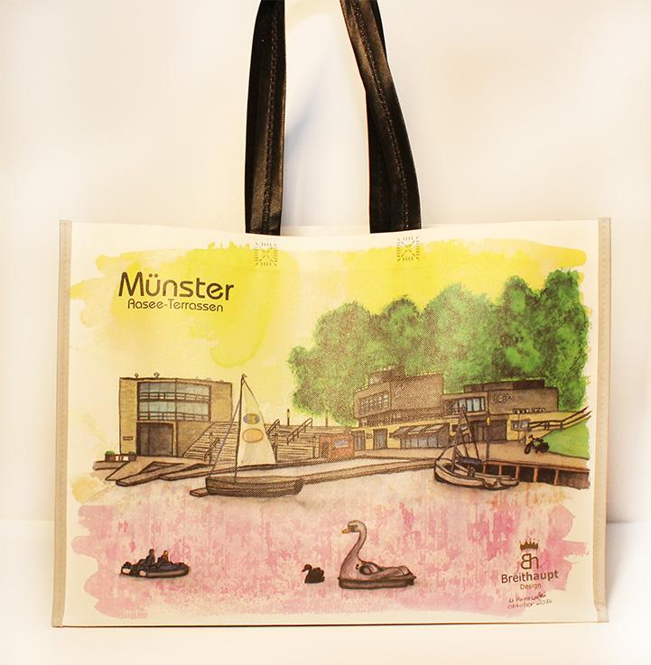 Münster Shoppingbag Aaseeterrassen