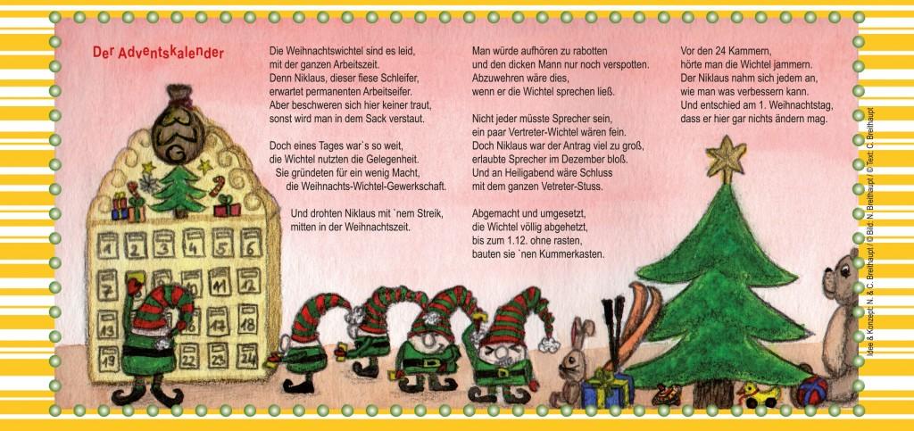 Weihnachtskarte-Adventskalender