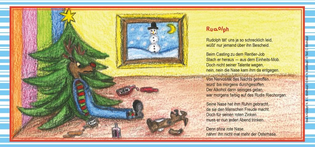 Weihnachtskarte-Rudolph